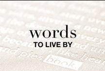 WORDS / Words that speak to us