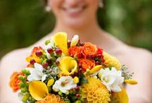 Scottish Autumn Wedding / Gorgeous burnt orange shades for an autumn wedding