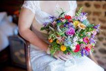 Bursting With Colour / Bright vibrant bridal bouquets