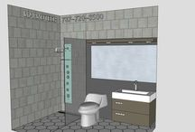 BATHROOM: 5x9 / Want a free design for YOUR BATHROOM Space?  Send Info to Marmotech Inc at Facebook.