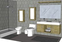 BATHROOM:  5x12 / Looking for a free design?  Send your info to Marmotech, Inc at Facebook.