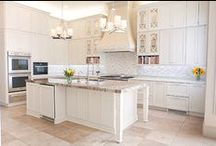 Classic White Kitchens / White kitchens are a timeless look that are always popular
