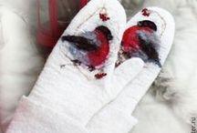 Gloves wool / Mittens, fingerless gloves, handmade gloves. Войлок, рукавицы, валяние, рукавицы ручной работы, перчатки, варежки шерстяные, митенки, варежки, KEÇE