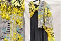 Nuno Felt Art Scarf by Lucy Morar. Шелковый шарф. / Шелковый палантин, шелковый платок, нуновойлок, шарф Люси Морар