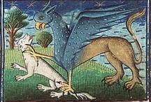 Bestiaires / Au Moyen Âge bien entendu, mais aussi plus tôt et parfois plus tard...