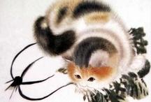 Faits l'un pour l'autre / Des félins et surtout des chats... -- See more at: http://www.all-art.org/Cats/CATS_ENCYCLOPEDIA1.htm, at: http://www.thegreatcat.org/ and at: http://www.pinterest.com/chbrav/