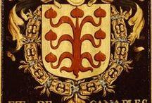 L'Ordre de la Toison d'Or / Plates of the Order of the Golden Fleece -- Panneaux en bois armoriés, peints pour chacun des membres, lors de la tenue des chapitres à Gand (Gent), en 1445 et 1559. Les nombres correspondent aux numéros de brevet attribués à l'entrée dans l'ordre. Les armoiries sont celles des membres vivant à la date du chapitre (ou décédés depuis le précédent chapitre). -- voir aussi : http://www.pinterest.com/nvdvoorde/armorials-of-all-the-knights-of-the-order-of-the-g/