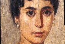 Fayum Mummies Portraits / Tellement vivants... -- In Roman Egypt (30 BC-AD 324), artists adapted naturalistic painting styles to the ancient custom of making portrait masks for mummies. The portraits were often painted while the subject was in the prime of life and were hung in the home until the person's death. This practice continued in northern Egypt well into the Early Byzantine period. -- See more at: http://www.portraittimeline.com/Faiyum%20Portraits%20-%20f.htm