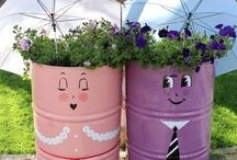 GARDEN / Creative and inspiring ideas to reuse old materials and products and transform them into a new garden decoration!