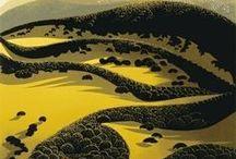 Art - Eyvind Earle / Hymne à la beauté de la nature et tout spécialement des arbres.