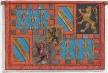Le livre de drapeaux de Fribourg / Fahnenbuch / Book of Flags, by Pierre Crolot, 1648, Fribourg -- See the manuscript at: http://www.e-codices.unifr.ch/en/list/one/aef/0053 -- Description at: http://www.e-codices.unifr.ch/en/description/aef/0053