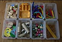 DIY Play / Children learn through play, so here is a board full of fun and creative ways to keep the kiddos entertained using items you can find around the house!