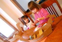 Arts & Crafts / Arts and crafts aren't silly, messy and time-wasting activities. Simple creative activities are some of the building blocks of child development. Some developmental benefits of art include: motor skills, language development, visual learning, and improved academic performance! These projects will help your children learn more about themselves and think creatively!