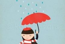 ♥ Umbrella & Rainy ☂ / by FUEY ***