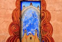 """IN THE DOOR AND OUT THE WINDOW / """"In the universe, there are things that are known, and things that are unknown, and in between, there are doors."""" ~ William Blake / by Marlene Goldsmith"""