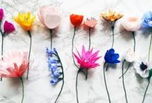 Paper Flowers / Paper flower inspiration, alternative wedding bouquets, DIY weddings, colourful wedding flowers, paper craft, paper flower tutorials, paper bouquets, wedding flowers.
