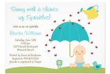 Best Baby Sprinkle Invitations / For baby number 2, 3 or more, a Sprinkle shower might be what's in store.  She's got all the big stuff, like strollers and cribs, help her out with the small stuff like diapers and bibs.  Find the best, cutest and most unique custom and personalized invites in every color of the rainbow for your light shower here.  You'll also find party ideas for the experienced mommy-to-be.  Brought to you by www.seasonalshowers.com