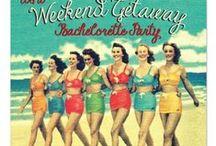 Bachelorette Party Fun / Ideas and invitations for a fun Bachelorette party.  Visit us at www.seasonalshowers.com