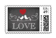Love Stamps - Custom Postage for Weddings and Anniversary Party Invitations / Pretty custom LOVE stamps, real USPS approved postage for use in the USA,, can be used for wedding and bridal shower invitations, save the date mailings or for rehearsal dinners, engagement party, anniversary party, Valentine's Day, or any other time you want to send your love to someone.