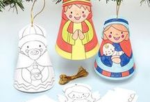 Nativity Crafts for Kids / Creative craft projects for children with a Nativity theme! Ideal at home or Sunday school.