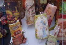Huella Artistica - Tejas Pintada - Todos de mi creación. / Artesanía: Tejas pintada a mano, Vario tamaño.      ART-DESIGN. Efectuo envíos de Obras en todo el mundo...