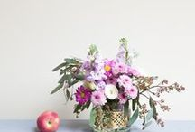 FLOWERS + PLANTS + VASES / Nothing best than a bunch of flowers to bring life and nature into the home and create a welcoming atmosphere.... Flowers and plants. Greenery for the home.