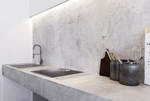 CONCRETE / CEMENT / Concrete design brings textural and visual contrast to a modern interior that is fresh, unique and extremely stylish.