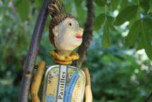 sculptures  textiles et mixed media / poupées, elfes, souris,etc