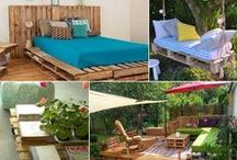 Target pallet / Furniture, cabinets, beds, decor and furnishings with pallets.