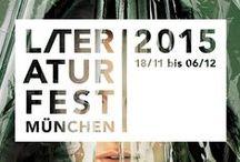 Literaturfest München 2015 / Das diesjährige Plakat- und Programmmotiv des Literaturfestes wurde wieder von dem Münchner Büro Alba gestaltet