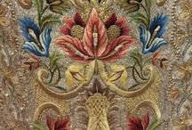 18th century fabric & embroidery