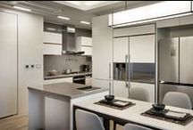 Radianz - Kitchens / Elegant colors and textures | Resistant to contamination and safe material