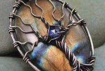 Wire jewelry - trees