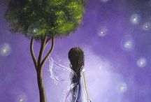 Maybe one day ... painting1 / Benjamin Lacombe, Nicoletta Ceccoli, Lisa Falzon, Shannon Bonatakis, Stephen Mackey, Les Toiles D'az, Shawna Erback