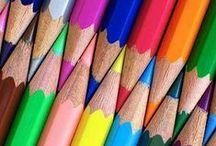 Pintado a mão - lapis, giz e tinta