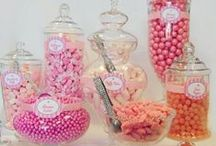 """Candy Buffet Packages / The latest in candy and wedding buffet """"fashions""""!"""