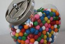 Candy Jars and Acrylic Bins / Glass jars - Acrylic Bis - Penny Candy Jars