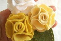 Filcové květiny