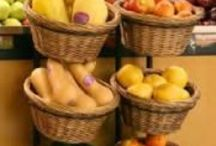 Produce Displays / Great wooden display bins for your produce needs