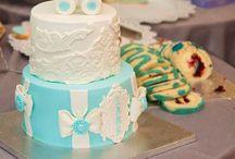 Christening baby cake