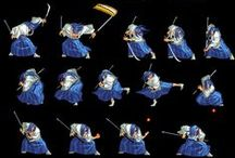 Sprite Sheets / Animation Of A Game Character In Sprite Form.......