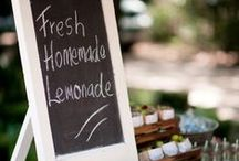 Lemonade Stands / Such a lovely treat and suprise to your guests to have a fresh lemonade stand outside the church before the ceremony begins