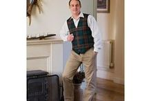 Trousers and more menswear / Tartan Trousers and tweed waistcoats