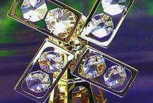 Kristályfigurák Swarovski kristállyal / 24 karátos arannyal bevont figurák