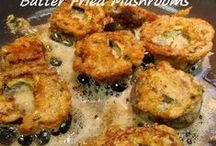 BATTER FRIED MUSHROOMS  gluten free / Dusted with gluten free flour and soaked for a few moments in egg, the end result is a light protein rich coating as opposed to a thick breadcrumb coating...Kitchen Wisdom Gluten Free Batter Fried Mushrooms Recipe  http://kitchenwisdomglutenfree.com/2014/03/28/batter-fried-mushrooms-gluten-free-forget-what-you-know-about-wheatc-201/