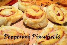 Pepperoni Pinwheels Gluten Free / Soft and Flavorful - Enjoy this Kitchen Wisdom Gluten Free PEPPPERONI PINWHEEL recipe  http://kitchenwisdomglutenfree.com/2014/06/11/pepperoni-pinwheels-gluten-free-forget-what-you-know-about-wheatc-2014/