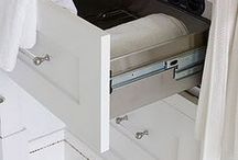 Towel warmer drawers- GENIUS! / Images of towel warmer drawers and cabinets.