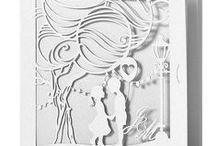 Svadobná inšpirácia - wedding inspiration / Jednoducho Kúzelné…Oznámenia … vo forme knižky, ktorú stačí otvoriť a hra svetla doslova vykúzli nezabudnuteľnú atmosféru Vášho príbehu.  by Three point
