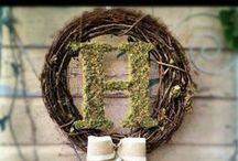 {Wedding Wreaths!} / Inspiration and ideas for Wedding Wreaths. / by Upcycled Treasures/A Handcrafted Wedding