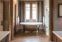 | Bathrooms | / Bathroom Inspiration, especially anything rustic or rustic-modern.